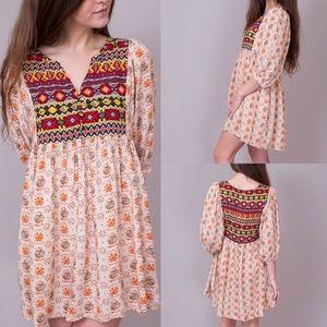 Umgee Bohemian Tribal Babydoll Dress